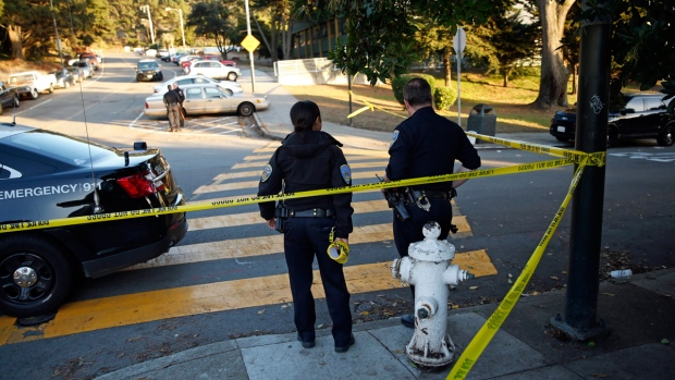 Site of a school shooting in San Francisco