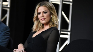 """Khloe Kardashian participates in the panel for """"Kocktails with Khloe"""" at the FYI 2016 Winter TCA in Pasadena, Calif.on Jan. 6, 2016. (Richard Shotwell/Invision/AP)"""