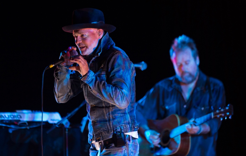 Gord Downie performing during 'Secret Path'