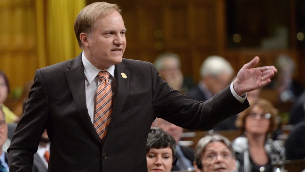 NDP MP Peter Julian in the House of Commons