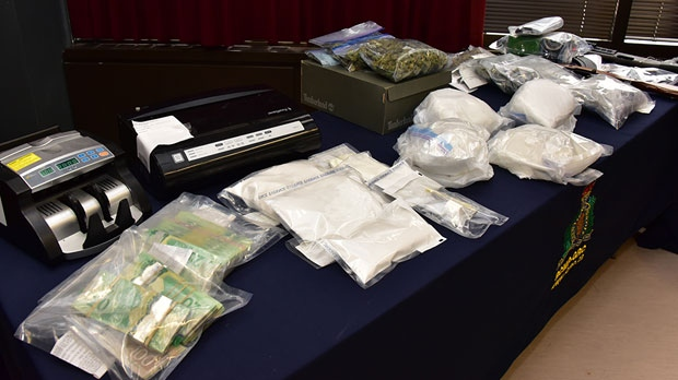 Between Oct. 12 and 15, the task force seized three kilograms of cocaine, three pounds of marijuana,and about one kilogram of methamphetamine. (Source: Manitoba RCMP)