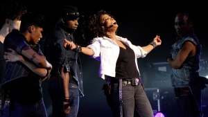 Janet Jackson performs in Johannesburg, on Nov. 11, 2011. (Denis Farrell / AP)