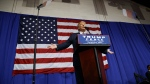 Republican presidential candidate Donald Trump speaks during a campaign rally at the Delaware County Fair, Thursday, Oct. 20, 2016, in Delaware, Ohio. (AP Photo/ Evan Vucci)