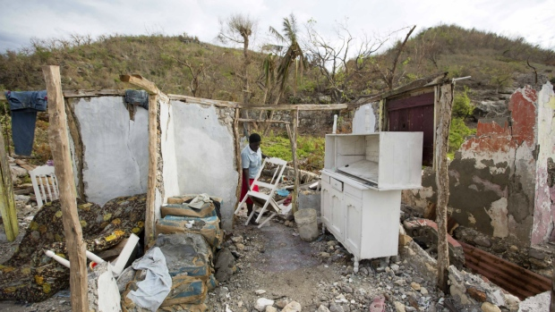 Aftermath of Hurricane Matthew damage in Haiti
