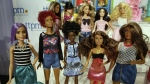 Barbie Fashionistas, from Mattel, are seen on display at the annual TTPM Holiday Showcase, in New York on Thursday, Oct. 6, 2016. (AP / Richard Drew)