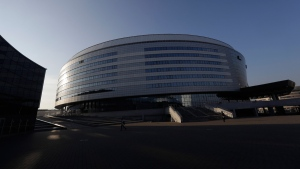 'Minsk - Arena' in Minsk, Belarus. (Sergei Grits / AP)