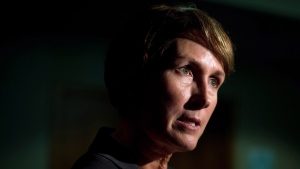 B.C. Representative for Children and Youth Mary Ellen Turpel-Lafond speaks to a reporter in Vancouver, B.C., on Friday November 13, 2015.  THE CANADIAN PRESS/Darryl Dyck