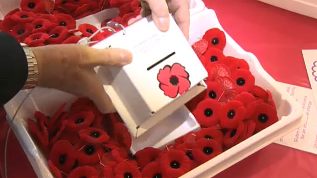 Dan Kroffat says his redesigned poppy box, built out of composite metal and secured with a cable, will deter thieves.