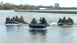 Extended: Army training on Toronto beaches
