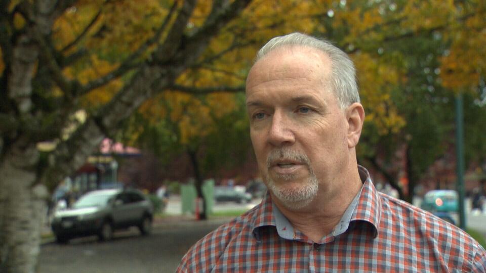 BC NDP leader John Horgan is criticizing the spill response. (CTV)