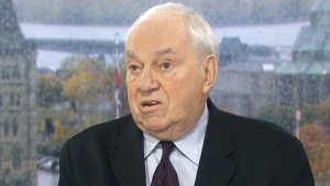 Former NDP leader Ed Broadbent on CTV's Question Period on Sunday, Oct. 23, 2016.