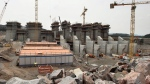 The construction site of the hydroelectric facility at Muskrat Falls, Newfoundland and Labrador is seen on Tuesday, July 14, 2015. (Andrew Vaughan / CANADIAN PRESS)
