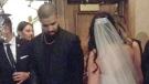 Rapper Drake attends a Windsor wedding on Saturday, October 22, 2016. (Twitter / @KelseyBoiss)