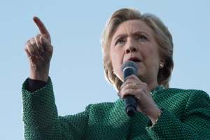 Democratic presidential candidate Hillary Clinton speaks at a campaign event at University of North Carolina at Charlotte, Sunday, Oct. 23, 2016, in Charlotte, N.C. (AP Photo/Mary Altaffer)