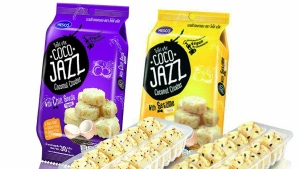 Coco Jazz Cococonut Cluster coconut and seed snacks from Thailand. (Sial)