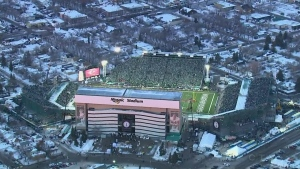 Mosaic Stadium is shown in this file photo.