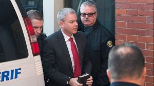 Dennis Oland arrives at the Court of Appeal in Fredericton on Monday, Oct. 24, 2016. (THE CANADIAN PRESS/Andrew Vaughan)