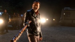 In this image released by AMC, Jeffrey Dean Morgan as Negan appears in a scene from 'The Walking Dead.' (Gene Page/AMC via AP)