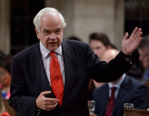 Immigration Minister John McCallum answers a question during question period in the House of Commons on Parliament Hill in Ottawa on Monday, October 24, 2016. (THE CANADIAN PRESS/Adrian Wyld)