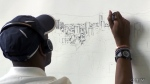 Artist sketches Mexico City from memory