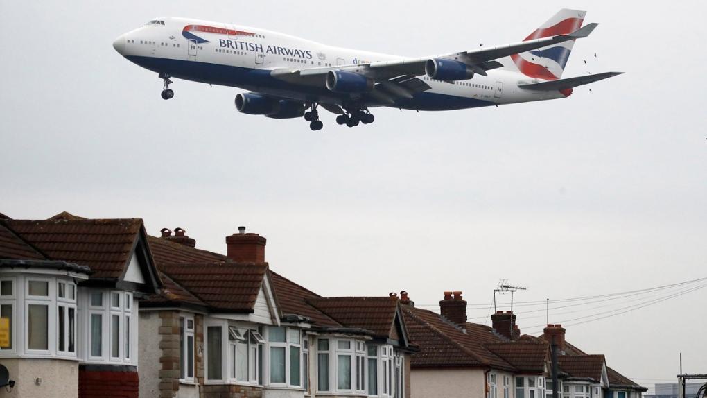 Landing at Heathrow Airport in London