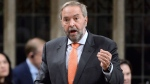 NDP Leader Tom Mulcair asks a question during question period in the House of Commons on Parliament Hill in Ottawa on Tuesday, October 25, 2016. THE CANADIAN PRESS/Adrian Wyld