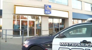 Two masked gunmen rob an RBC branch in Kitchener on October 25, 2016.