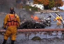 Boat fire on Georgian Bay