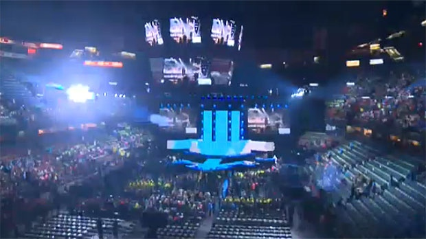 Thousands of students joined celebrities and speakers at the Saddledome in Calgary for WE Day 2016.
