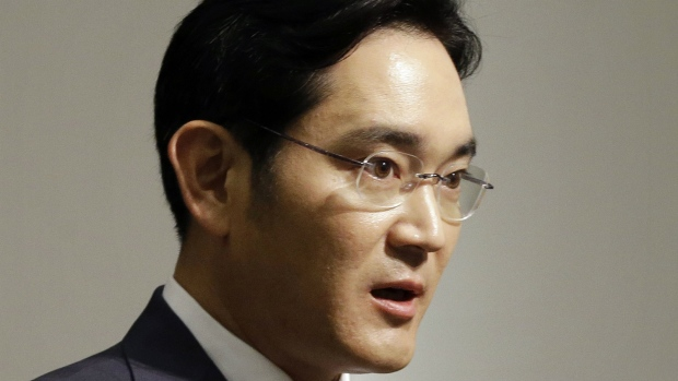 Lee Jae-yong, vice chairman of Samsung Electronics Co., speaks during a press conference at the company's headquarters in Seoul, South Korea on June 23, 2015. (AP / Ahn Young-joon)