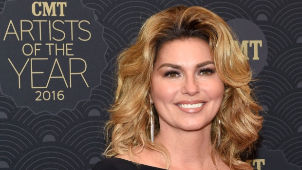 Shania Twain poses at the 2016 CMT Artists of the Year at Schermerhorn Symphony Center on Wednesday, Oct. 19, 2016, in Nashville, Tenn. (Sanford Myers/AP)