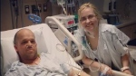 Chris Dempsey and Heather Krueger fell in love while they both recovered from the transplant surgery.