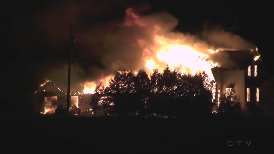 Extended: Fire destroys home in Lindsay
