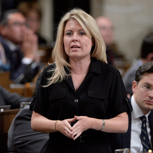 Conservative MP Michelle Rempel asks a question during question period in the House of Commons on Parliament Hill in Ottawa on Monday, October 24, 2016. (Adrian Wyld / THE CANADIAN PRESS)