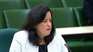 Justice Minister Jody Wilson-Raybould appears before a Justice committee to defend Bill C-16.