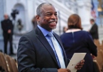 In this Sept. 14, 2016 file photo, actor, director LeVar Burton smiles as he takes his seat in the Great Hall of the Library of Congress in Washington. (AP Photo/Pablo Martinez Monsivais, File)