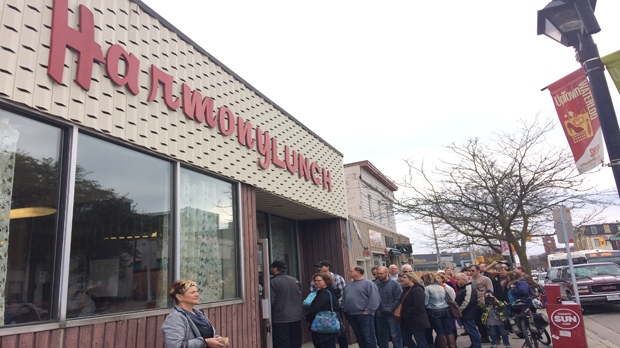 The Harmony Lunch on King Street North in Waterloo is pictured on Saturday, Oct. 29, 2016. (Tyler Calver / CTV Kitchener)