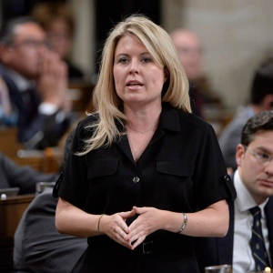 Conservative MP Michelle Rempel asks a question during question period in the House of Commons on Parliament Hill in Ottawa on Monday, October 24, 2016. (THE CANADIAN PRESS/Adrian Wyld)