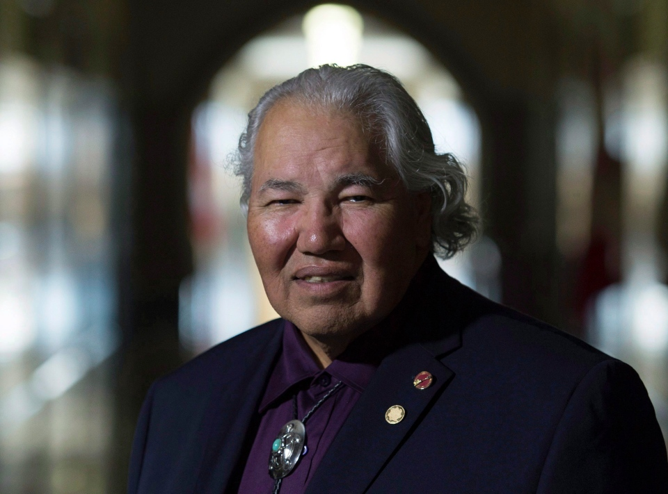 Sen. Murray Sinclair poses for a photo outside his Senate office on Parliament Hill, Tuesday September 20, 2016 in Ottawa. THE CANADIAN PRESS/Adrian Wyld