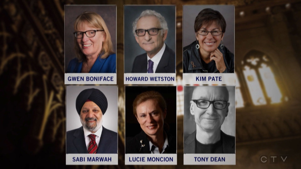 Prime Minister Justin Trudeau has announced six new senators: Gwen Boniface, Howard Wetston, Kim Pate, Sarabjit Marwah, Lucie Moncion and Tony Dean.