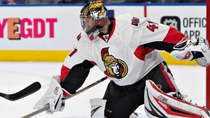 Senators goalie Craig Anderson is one of the NHL's three finalists for the Bill Masterton Trophy.