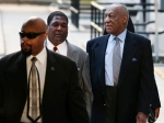 Bill Cosby, right, arrives for a hearing in his sexual assault case at the Montgomery County Courthouse in Norristown, Pa. on Tuesday, Nov. 1, 2016. (AP / Mel Evans)