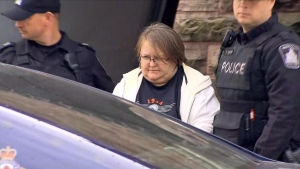 Elizabeth Tracey Mae Wettlaufer, of Woodstock, Ontario, is shown in this still image taken from video on Oct. 25, 2016. (THE CANADIAN PRESS / HO-Citynews Toronto)