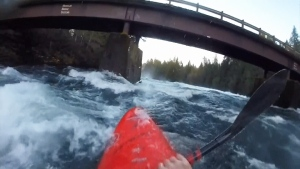 David Prothero of the Vancouver Island Whitewater Paddling Society took GoPro video of a wild ride down the Puntledge River amid the higher-than-normal river flows. Nov. 3, 2016. (YouTube)