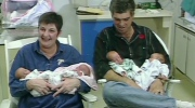 Bev and Jeff Unger with their newborn babies
