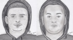 Police released sketches of two suspects in a robbery at a Portage Avenue pharmacy in May of 2016. (Source: Winnipeg Police Service)