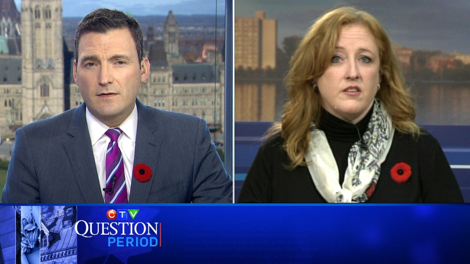 Evan Solomon questions Lisa Raitt about her Conservative leadership bid on CTV's Question Period, Sunday, Nov. 6, 2016.