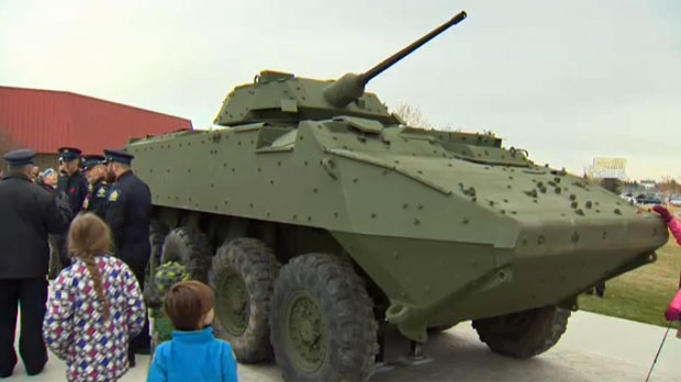 The LAV III memorial outside the Nose Creek Valley Museum in Airdrie was unveiled on Sunday, November 6, 2016