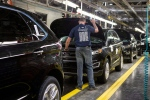 Ford Edges sit on a production line as Ford Motor Company celebrates the global production start of the 2015 Ford Edge at the Ford Assembly Plant in Oakville, Ont., on Thursday, February 26, 2015. (THE CANADIAN PRESS/Chris Young)