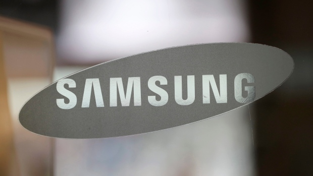 The corporate logo of Samsung Electronics Co. is seen at its shop in Seoul, South Korea on Oct. 5, 2016. (AP / Lee Jin-man)